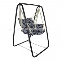Outdoor & Indoor Hammock Stand Chair - Black
