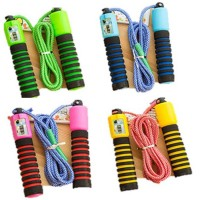 Skipping Jumping Jump Rope Automatic  Counting Number Exercise Fitness (Type 1: Foam Handle)