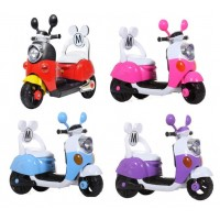 Children Electric Mickey Scooter with Back Rest and Rechargeable Battery