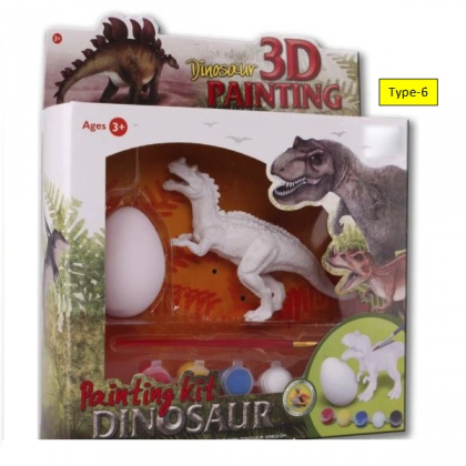 (Collects All 6 Types) Kid DIY Dinosaur and  Egg Painting Kit