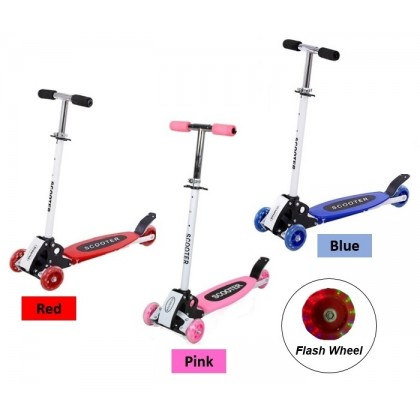 Foldable and Adjustable Flash 3 Wheels Kid Scooter Kid Fast Scooter Flash Light Kid Scooter Slide Scooter
