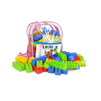 130pcs Children Colorful Large Set of Building Blocks