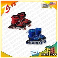 New Inline Flash Wheel Roller Skates Shoes for Kids Adjustable Roller Skates
