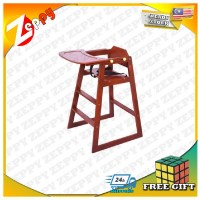 Children Solid Wood Dining Baby High Chair with Adjustable Dining Table
