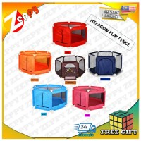Zeppy Hexagon Foldable Playpen Playard Baby Kids Safety Play Fence