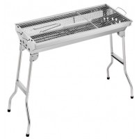 Portable Folding Stainless Steel Charcoal Grill BBQ Barbeque