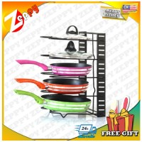 5 Tiers Kitchen Cabinet Pan Pot Lid Storage Organizer Rack