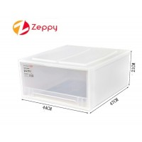 Clothes Plastic Transparent Drawer Cabinet Organizer Storage Box