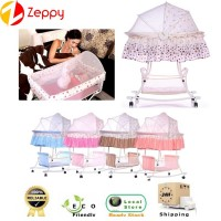 Zeppy Multi functional Baby Rocking Cradle Bed Bassinet With Wheels Stroller
