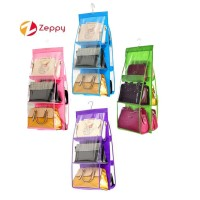6 Pockets Hanging Handbag Storage Organizer Dust Proof Bag Hanger
