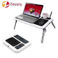 E-Table Portable Foldable Laptop Desk Table With Cooling Fan System