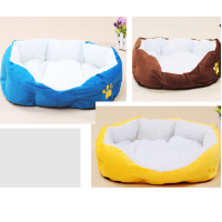 Soft Fleece Warm Bed Kennel Plush Mat Pad Cozy Nest Medium