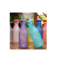 Steam Bottle Cup 550ML Leak-proof Plastic Portable Cup Portable Sealed Glass