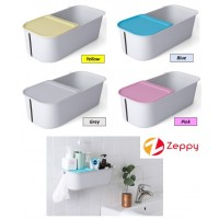 Wall Mounted Seamless Bathroom Holder Toilet Rack Tissue Box Storage Shelf
