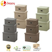 [Set of 3] Non Woven Clothes Underwear Folding Storage Box