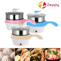 Portable Multi function Stainless Steel Mini Electric Cooker Cooking Steamer Pot