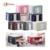 66L Large Oxford Cloth Dual Opening Spring Blossom Foldable Storage Box