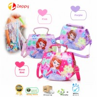 Girls Kid Handbag Cute Cartoon Sofia Princess Fashion Tote Sling Shoulder Bag