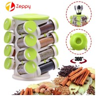 16 in 1 Multipurpose Rotating Spice Rack Cutlery Holder Storage Organizer Box