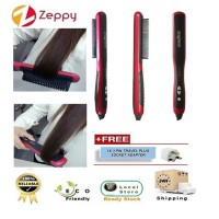Professional Fast Ceramic Electric Hair Straightening Straightener Comb