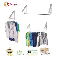 Stylish Retractable Stainless Steel Wall Mount Multifunction Mini Clothes Hanger