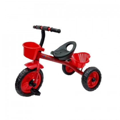 Children Kids Simple Design Tricycle Bike with Front and Rear Basket