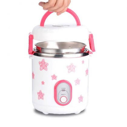 1.2L Multi Function Electric Mini Rice Cooker Lunch Box Steamer