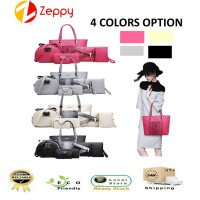 6 IN 1 Korea Style Fashion Premium Shoulder Sling Tote Leather Women Handbag