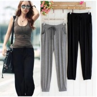 MII Spring And Summer New Thin Modal Large Size Loose Explicit Thin Pants Casual Sports Pants Yoga Pants Female