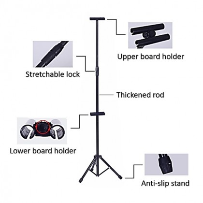 Banner Bunting and Painting Stretchable Height Tripod Drawing Stand (Free Bag)