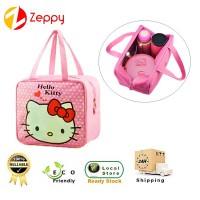 Waterproof Cute Hello Kitty Picnic Lunch Box and Shopping Travel Tote Bag