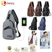USB Charging Stylish Shoulder Outdoor Sports And Leisure Messenger Bag