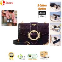 Retro Female Square Type Pu Leather Chain Shoulder Women Casual Sling Handbag