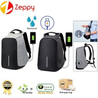 35L Unisex Laptop Waterproof Computer USB Charging Port Travel Backpack Bag
