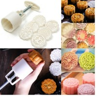 MII 6 Style Stamps 50g Round Flower Moon Cake Mold Mould Decor