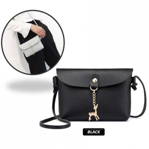 Fashion Women Little Deer Pendant Flip Single Shoulder Sling Bag