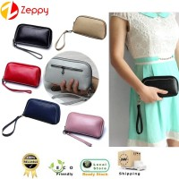 Female Fashion Style Genuine Leather Women Purse Pouch Wallet  Zipper Love