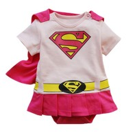 Costume Baby Romper Super Girl Design