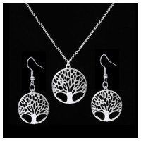 MII American Fashion Pendant Tree Jewelry Necklace And Earring