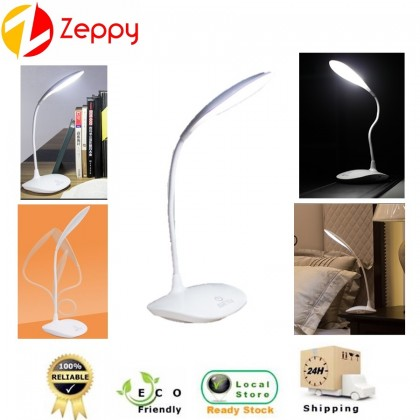 LED USB Rechargeable Eye Protection Flexible Touch Sensor Study Desk Table Lamp