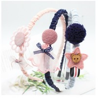 MII Korean Children's Hair Accessories Jewelry Cute Fabric Lace Cartoon