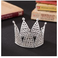 MII Crown Pearl Rhinestone Hair Accessories Headdress Bridal
