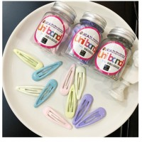 MII 10 PCS Korean Candy Color Clip Headwear Hair Clip