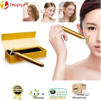 Gold Color Electric Vibration Energy Beauty Bar Facial Slimming Face Massager