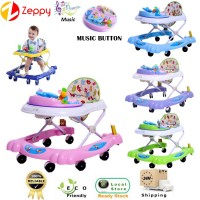 Foldable 8 Wheels Baby Walker With Toys And Music With Stopper