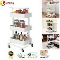 3 Tier Multi-Function Trolley Kitchen Storage Rack Storage Shelf Beauty Salon