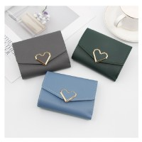 MII  Wallet Girl Short Fashion Korean Style Buckle Wallets Purse Bag