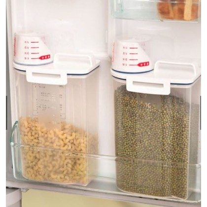 2L Plastic Cereal Dispenser Storage Box
