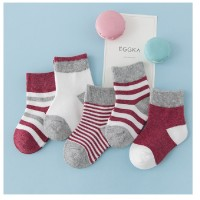 MII  Autumn And Winter Striped Cotton Boys And Girls Children's Socks