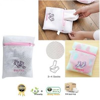 Zippered Washing Bag Clothing Protection Laundry Net For Socks Protector